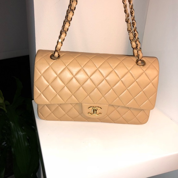e1015f0a361504 CHANEL Bags | Sold Classic Ml Nude Lambskin Double Flap | Poshmark